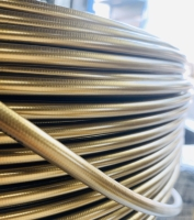 1/8 PTFE Stainless Steel Braided brake hose - Gold