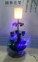 Cens.com LI PAO FU INDUSTRIAL CO., LTD. Floor Lamp with Multifunctional K/D Flower Rack