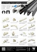 低壓(圓型)軌道燈系統及配件