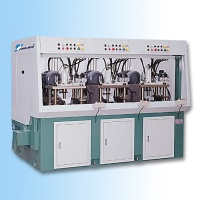 Three spindle mounting surface processing machine
